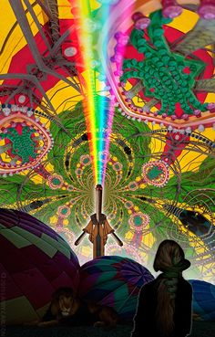 Visionary artwork, psychedelic art prints, contemporary collage art, and trippy movies by Larry Carlson. Psychedelic Experience, Psychedelic Drugs, Love Art, All Art, Hippie Peace, Visionary Art, Visual Communication, Sacred Geometry, Mandalas