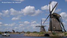 Kinderdijk windmills in a row - Netherlands