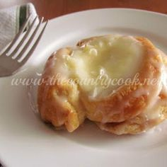Crescent Cheese Danishes 2 cans of crescent rolls 1 box of cream cheese 1/4 c white sugar 1 tsp Vanilla 2 Tbsp butter 8 tsp brown sugar Glaze 1/2 c powder sugar 1 tsp vanilla 4 tsp milk bake at 350 15-18 minutes