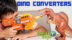 Luca got dinosaur gun - it's a dino converter - you can transform it to the gun and back into dinosaur. Then Luca has fun testing and shooting soft bullets Fun Test, Dinosaurs, Transformers, Have Fun, Guns, Weapons Guns, Revolvers, Weapons, Rifles