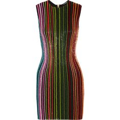 BalmainBeaded Mesh Mini Dress (5 980 AUD) ❤ liked on Polyvore featuring dresses, green, embellished cocktail dress, green cocktail dress, green print dress, beaded mini dress and balmain dress