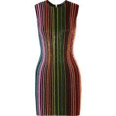 Balmain Beaded mesh mini dress ($3,915) ❤ liked on Polyvore featuring dresses, balmain, embellished dress, mini dress, short dresses, print dress and short beaded cocktail dresses