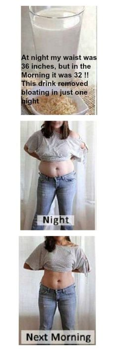 At night my waist was 36 inches, but in the Morning it was 32 ! This drink removed bloating in just one night fat burning night Lose Weight, Weight Loss, Loosing Weight, Water Weight, Lose Fat, Detox Drinks, Healthy Drinks, Healthy Smoothies, Healthy Foods