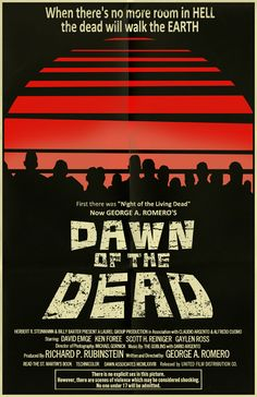 """When there's no more room in hell, the dead will walk the earth."" George Romero is the master!! #dawnofthedead"