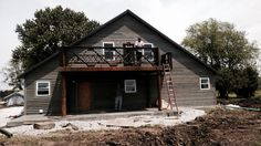 """Iron two story deck with reclaimed bridge iron the """"cuckoos nest"""""""