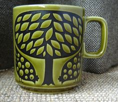 1970s Hornsea mug designed by John Clappison (in my favourite colour!)