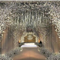 Next up on the list is this stunning wedding entrance inspo from Truly adore all elements incorporated in the setu Wedding Entrance, Wedding Stage, Wedding Goals, Wedding Themes, Wedding Designs, Wedding Reception, Wedding Venues, Wedding Decorations, Grand Entrance