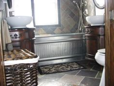 Galvanized steel stock tank for bathtub Galvanized Water Trough, Galvanized Bathtub, Galvanized Steel, Galvanized Decor, Tiny House Bathroom, Small Bathroom, Bathroom Ideas, Bathrooms, Steel Stock