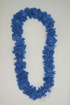 Blue-Hawaiian-Lei-VW-Campervan-T2-T25-T4-T5-Beetle-Flower-Garland