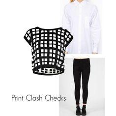 checkered print clash