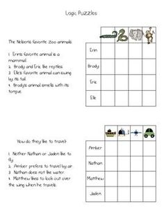 These are fun simple puzzles I use to introduce logic puzzles.  They are great when we have some free time.All clipart ScrappinDoodles.com