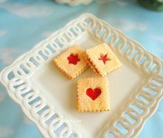 Set of 3 Fake Cookies Strawberry Cherry Sandwich Sandwich Linzer Tart Fake Cookies Jelly Cream