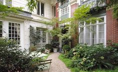 parisian home gardens   Lovely, Perfectly Located Apartment with a Garden: Unique !