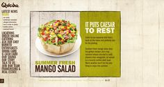 Beautiful and creative organic web design: Qdoba Mexican Grill  http://www.qdoba.com/#