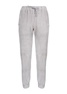 T by Alexander Wang Pants :: T by Alexander Wang grey suede pants | Montaigne Market