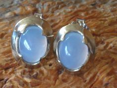 Ellensburg Blue Agate, rare beautiful stone. We got married in Ellensburg so instead of traditional wedding bands ours were made from this blue agate.