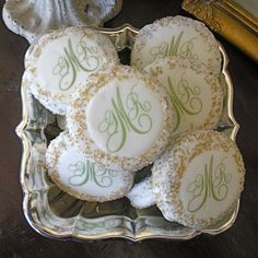 Chocolate Covered Oreos | Our popular edible favors include monogram chocolate covered oreos ...