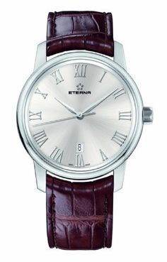 Eterna Men's 8310.41.15.1176 Soleure Automatic Big Date Watch Eterna Watches. $1946.75. Sellita caliber SW 200 automatic 26 jewels movement, 1 ball bearing. Silver, sunray-brushed dial; scratch-resistant, dual anti-reflective sapphire crystal. Water-resistant to 165 feet (50 M). Polished stainless steel case, case back secured with four screws. Brown alligator leather strap with folding clasp