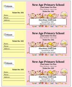 Free Ticket Maker Template These Printable Raffle Tickets Are Multicolored And Great For .