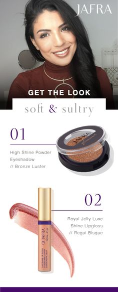 Get your shine on! Use this dynamic duo to create a luminous look that last long into the night.