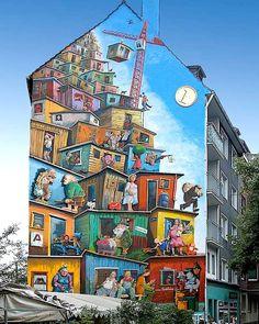 "Artist : Klaus KLINGER - ""Economic Miracle"" - Location: Dusseldorf, Germany - Identifications : Page Facebook ""Street Art Save My Life"" https://www.facebook.com/photo.php?fbid=273533836082914=a.209891349113830.32320.161613327274966=1"