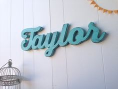 Taylor sign-custom word sign wood wall decor  You choose word by OldNewAgain, $78.00