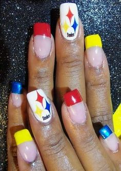 steelers nail art
