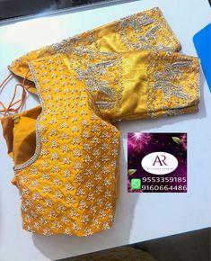 Wedding Saree Blouse Designs, Saree Blouse Neck Designs, Stylish Blouse Design, Fancy Blouse Designs, Maggam Work Designs, Designer Blouse Patterns, Work Blouse, Blouse Simple, Sarees