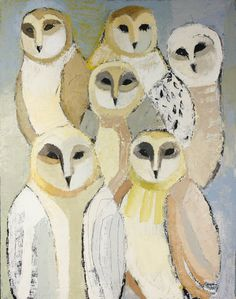 "Trendafila Trendafilova ""The owls""  100/85  oil on canvas"