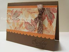 Autumn Card by jenniferstamp04 - Cards and Paper Crafts at Splitcoaststampers