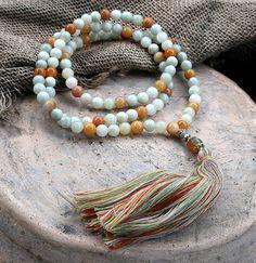 Beautiful 8 mm jade gemstone japa mala necklace - look4treasures, $61.95