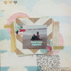 Beach Scrapbook Page using Crate Paper's The Pier