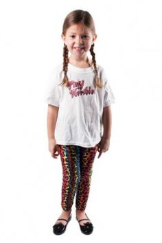 RAINBOW LEOPARD LEGGINGS Avalable at tinyterribles.com
