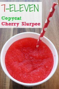 Homemade 7-11 Cherry Slurpee recipe!