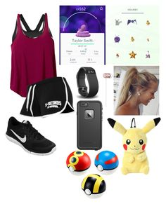 """""""Going Pokémon hunting"""" by mrs-irwin-grier ❤ liked on Polyvore featuring NIKE, prAna, Fitbit, LifeProof, Beats by Dr. Dre and Hot Topic"""