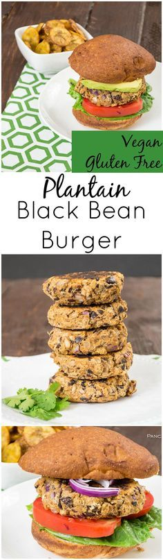 This easy vegan veggie burger is anything but ordinary! Sweet plantains and smoky black beans create a veggie burger you just have to try! Gluten free, low fat, easy healthy recipe! Perfect for lunch or dinner!