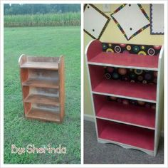 Redo old book shelf