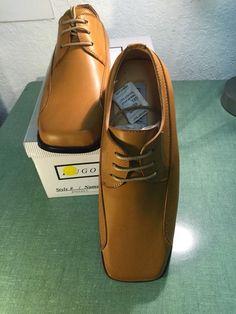 d14d7605b8bb Hugo Vitelli Boys  New Solid Tan Dress Shoes K741TAN-C See Photos   HugoVitelli