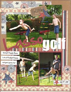 Lasso Golf - Scrapbook.com - What a fun summertime game and a great layout. #scrapbooking #scenicroutepaper