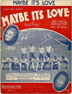 """Maybe It's Love"" sheet music, 1938. Sam DeVincent Collection of Illustrated American Sheet Music, ca. 1790-1980, Archives Center, National Museum of American History."