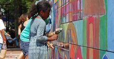 Things-I-Wish-I-Saw-on-the-Playground: Community Chalkboards