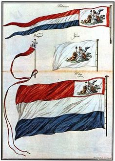 Flag and pennants of the Batavian Republic. The canton features the Netherlands Maiden. This Day in History: Mar Dutch East India Company Napoleon, East India Company, Dutch East Indies, Age Of Empires, Us Government, Oriental, Flag Design, Coat Of Arms, Historical Photos