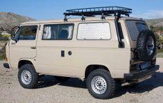 Ready for an all terrain road trip! Vw T3 Camper, Vw Bus T3, Volkswagen Bus, Transporter T3, Volkswagen Transporter, Vw T4 Syncro, Vw Lt, 4x4 Van, Vanz