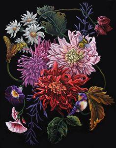 Chrysanthemum Giclee Print of Original painting – beauty flowers Vintage Botanical Prints, Botanical Art, Botanical Illustration, Art Floral, Impressions Botaniques, Art Watercolor, Floral Illustrations, Flower Art, Cactus Flower