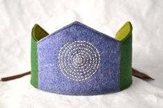 Starburst Waldorf Wool Felt Birthday Crown. $22.00, via Etsy.  Stitching!