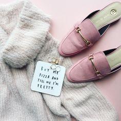 50 shades of pink flatlay