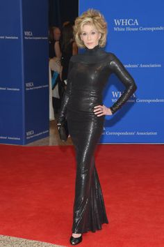 Jane Fonda attends the White House Correspondents Dinner. All the best red carpet looks here: