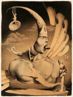 Art by Dmitry Vorsin Creepy Art, Weird Art, Arte Horror, Horror Art, Illustrations, Illustration Art, Collage Art, Collages, Visionary Art