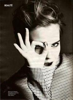 Emma Watson    Imagery: A-ok 666 hand sign and One Eye symbolism
