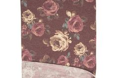 Heather Soft Burgundy Floral Knit Jersey Fabric 42 inches